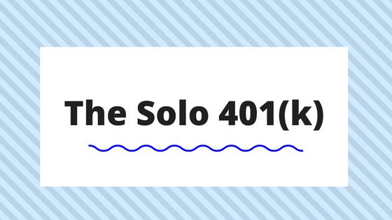 The Solo 401(k)