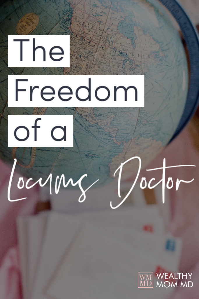 The freedom of a locums doctor pinterest image